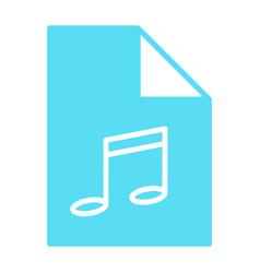 music file silhouette icon audio format mp3 vector image