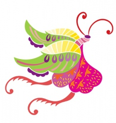 spring loves butterly vector image vector image