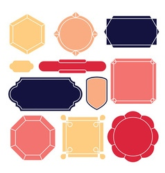 Contour label 11 elements vector image