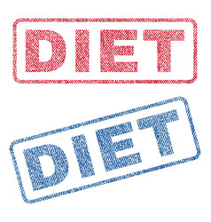 diet textile stamps vector image vector image