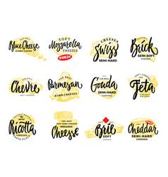 Organic food logos set vector