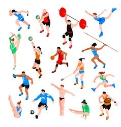 Sport Isometric Set vector image