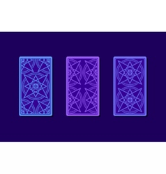 Tarot cards by reverse side Classic designs vector image