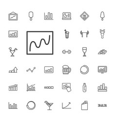 33 bar icons vector