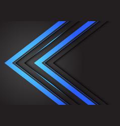 Abstract double blue light arrow direction vector