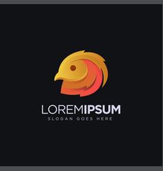 abstract golden pheasant logo icon template vector image