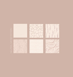 Abstract neutral brown nude safari animal texture vector