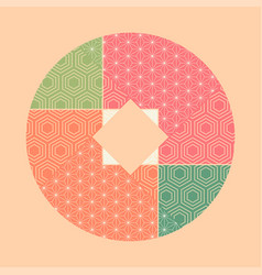 abstract patchwork vector image