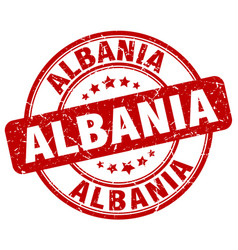 Albania red grunge round vintage rubber stamp vector