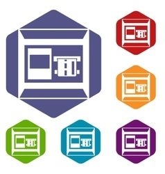 ATM icons set vector