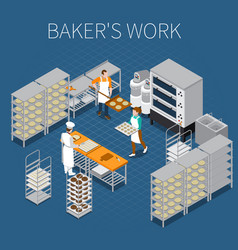 bakers factory isometric background vector image