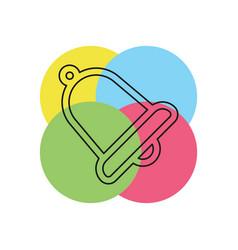 bell icon alarm alert symbol vector image