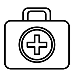 black and white first aid bag graphic vector image