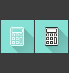 calculator - icon vector image
