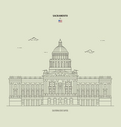 California state capitol in sacramento usa vector