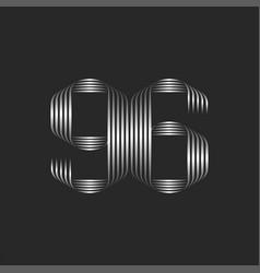 Calligraphic logo 96 digit creative monogram vector