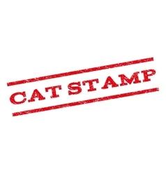 Cat Stamp Watermark Stamp vector image