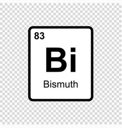 chemical element bismuth vector image