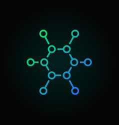 Chemical structure colorful outline icon or vector