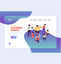 Child rights website page vector