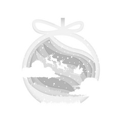 Christmas decoration santaclaus background vector