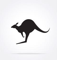 Classic australian kangaroo silhouette vector