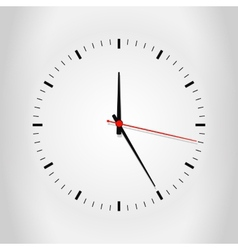 Clock face with shadow vector image
