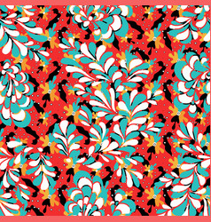 colored flower petals seamless pattern vector image