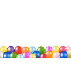 Colorful balloons border with white background vector