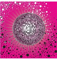 cover design with disco ball vector image