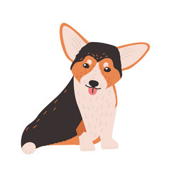 cute cardigan welsh corgi small funny lovely dog vector image