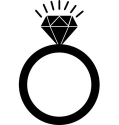 diamond black icon diamond icon eps vector image