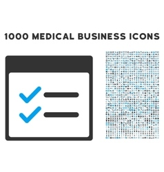 Done Items Calendar Page Icon With 1000 Medical vector