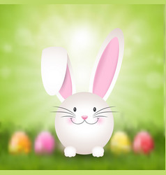 easter bunny background vector image