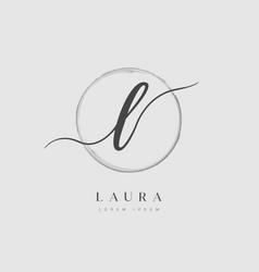 elegant initial letter type l logo vector image