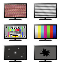 error tv set vector image