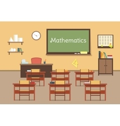 Flat of mathematic classroom vector