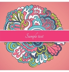 Floral Frame Collection cute retro flowers cards vector