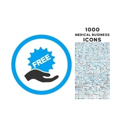 Free Offer Rounded Icon with 1000 Bonus Icons vector