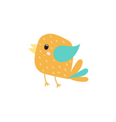 funny flying bird character in cartoon style vector image