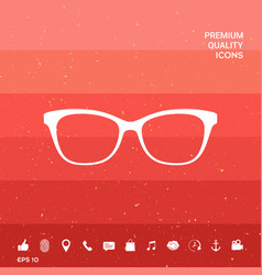 Glasses symbol icon vector