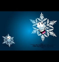 happy snowflake vector image