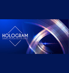 hologram abstract background with motion lights vector image