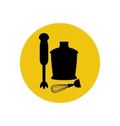 Immersion blender icon silhouette vector image