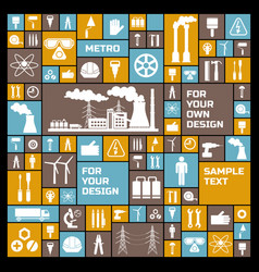 Industrial elements set vector