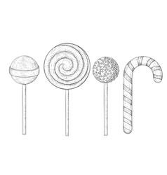 Lollipops hand drawn sketch vector
