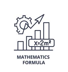 mathematics formula line icon concept mathematics vector image