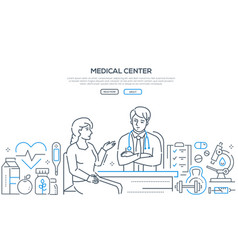 medical center - modern line design style banner vector image