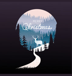 Merry christmas happy new year calligraphy vector