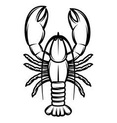 Monochrome with lobster vector
